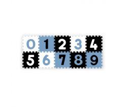 Pěnové puzzle BabyOno Pastelové Čísla 10 ks Blue/Black/White