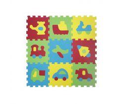 Pěnové puzzle na zem 84x84 cm Ludi doprvaní prostředky