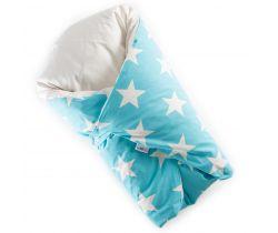 Péřová zavinovačka Dráček tyrkysová velké bílé hvězdy