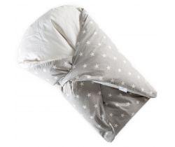 Péřová zavinovačka Klasik šedá ostré bílé hvězdy