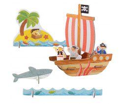 3D puzzle Petitcollage Piráti s barvami