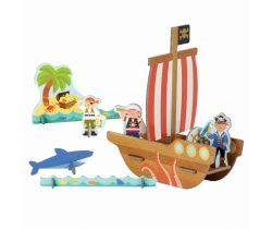 3D puzzle Petitcollage Pirátská loď