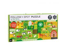 Bludiště a puzzle Petitcollage Farma