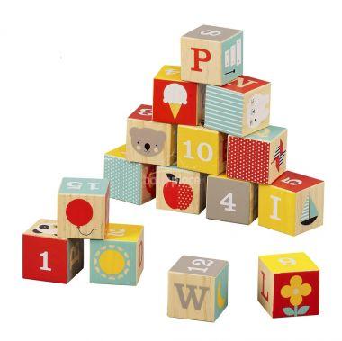 Dřevěné kostky Petitcollage ABC