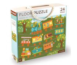 Podlahové puzzle Petitcollage Počítání s vláčkem