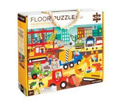Podlahové puzzle Petitcollage Stavba ve městě