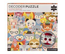 Puzzle 100 ks s 3D brýlemi Petitcollage Zvířátka