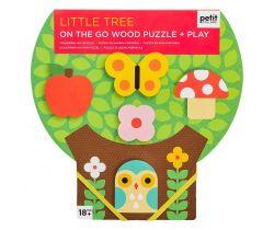 Robustní dřevěné puzzle Petitcollage