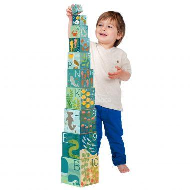 Věž z 1-2-3 kostek s mořskými živočichy Petitcollage