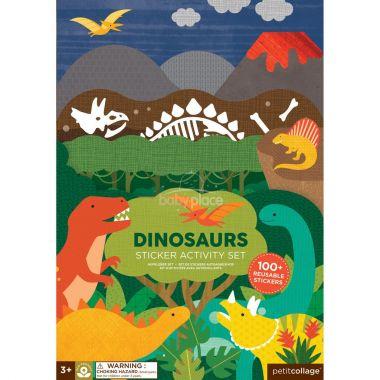 Znovu použitelné samolepky se scénou Petitcollage Dinosauři