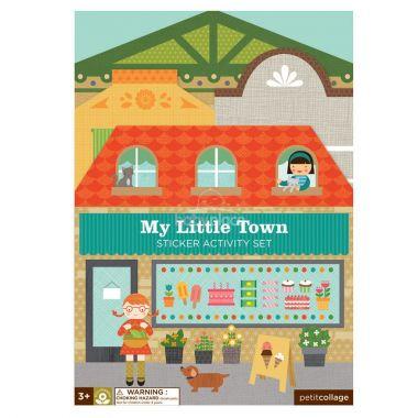 Znovupoužitelné samolepky se scénou Petitcollage Moje malé město