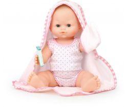 Koupací panenka s ručníkem Petitcollin  36 cm