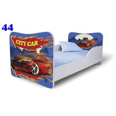 Dětská postel Pinokio Deluxe Butterfly Auta 44