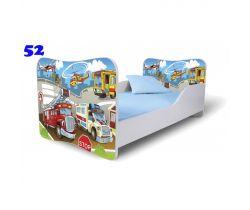 Pinokio Deluxe Butterfly Auta 52 dětská postel