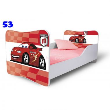 Dětská postel Pinokio Deluxe Butterfly Auta 53
