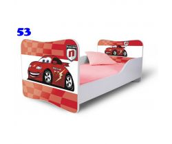 Pinokio Deluxe Butterfly Auta 53 dětská postel