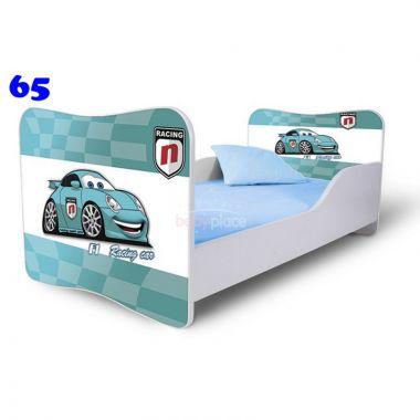 Dětská postel Pinokio Deluxe Butterfly Auta 65