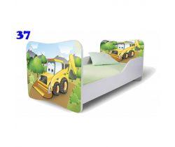 Dětská postel Pinokio Deluxe Butterfly Bagr 37
