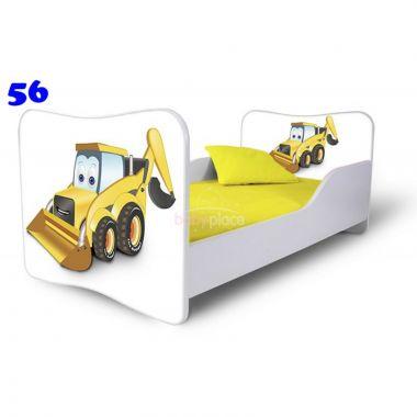 Dětská postel Pinokio Deluxe Butterfly Bagr 56