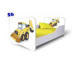 Pinokio Deluxe Butterfly Bagr 56 dětská postel