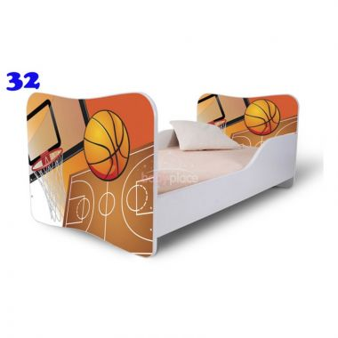 Dětská postel Pinokio Deluxe Butterfly Basketbal 32