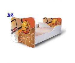 Pinokio Deluxe Butterfly Basketbal 32 dětská postel