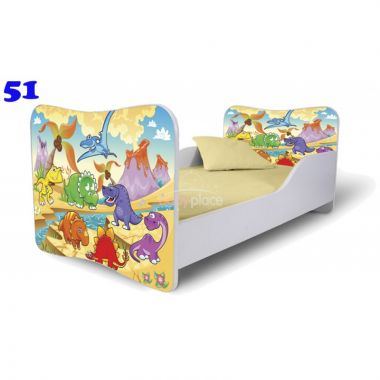 Dětská postel Pinokio Deluxe Butterfly Dinosauři 51