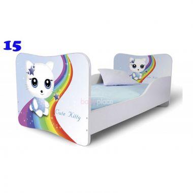 Dětská postel Pinokio Deluxe Butterfly Kočka 15