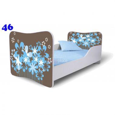 Dětská postel Pinokio Deluxe Butterfly Květiny 46