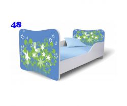Pinokio Deluxe Butterfly Květiny 48 dětská postel