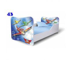 Pinokio Deluxe Butterfly Letadla 43 dětská postel