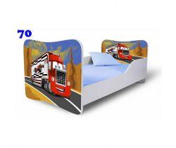 Dětská postel Pinokio Deluxe Butterfly Nákladní auto 70