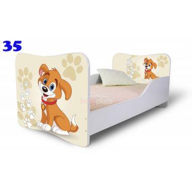 Dětská postel Pinokio Deluxe Butterfly Pejsek 35