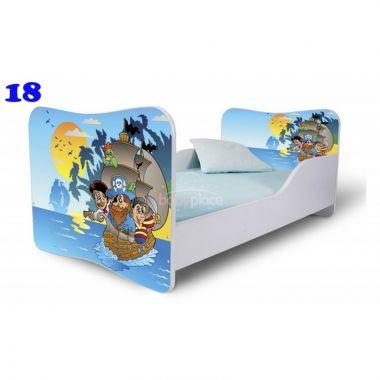Dětská postel Pinokio Deluxe Butterfly Piráti 18
