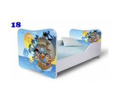 Pinokio Deluxe Butterfly Piráti 18 dětská postel