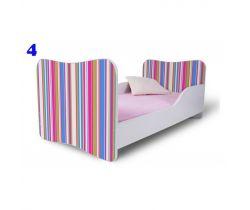 Pinokio Deluxe  Butterfly Proužky 4 dětská postel