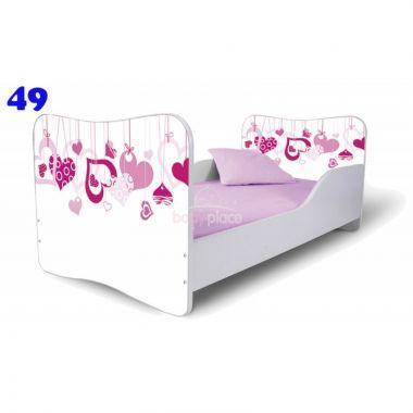 Pinokio Deluxe  Butterfly Srdce 49 dětská postel