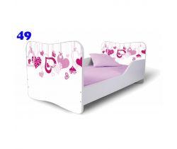 Detská postel Pinokio Deluxe Butterfly Srdce 49