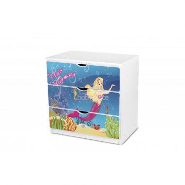 Šuplíková komoda Pinokio Deluxe Mořská panna 45