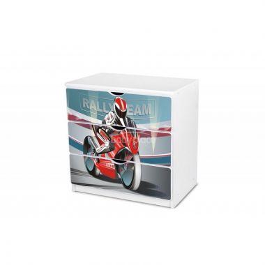 Pinokio Deluxe Motorka 28 šuplíková komoda
