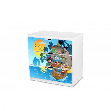Pinokio Deluxe Piráti 18 šuplíková komoda