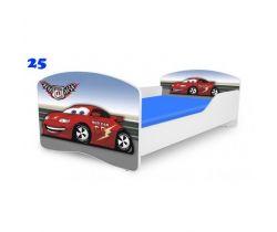 Pinokio Deluxe Rainbow Auto 25  dětská postel