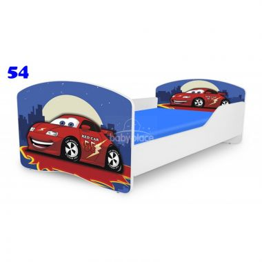 Dětská postel Pinokio Deluxe Rainbow Auto 54