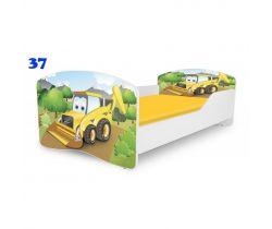 Pinokio Deluxe Rainbow Bagr 37  dětská postel