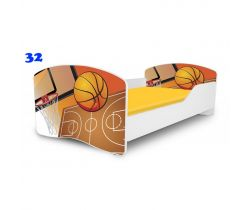 Pinokio Deluxe Rainbow Basketbal 32  dětská postel