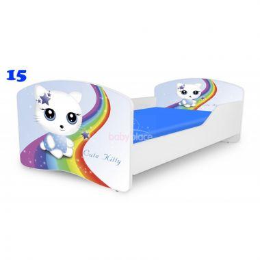 Pinokio Deluxe Rainbow Cute Kitty 15   dětská postel