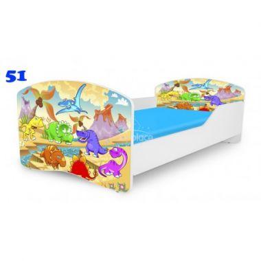 Dětská postel Pinokio Deluxe Rainbow Dinosauři 51