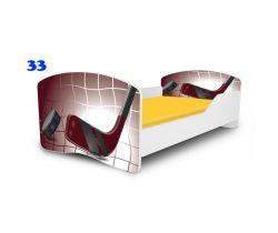 Pinokio Deluxe Rainbow Hokej 33  dětská postel