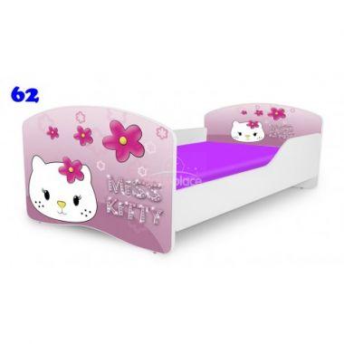 Dětská postel Pinokio Deluxe Rainbow Kitty 62