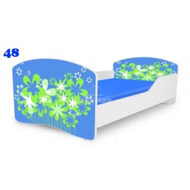 Dětská postel Pinokio Deluxe Rainbow Květinka 48